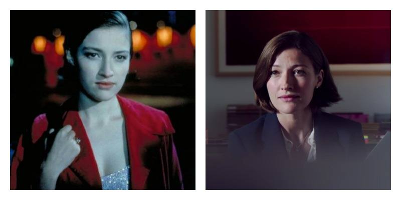 Kelly Macdonald as Diane in Trainspotting and Trainspotting 2 side by side