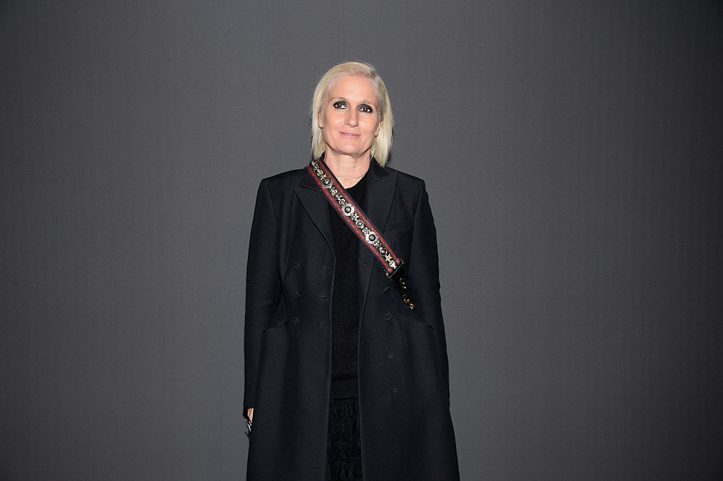 Maria Grazia Chiuri attends the Dior Homme Menswear Fall/Winter 2017-2018