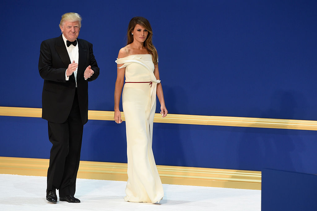 US President Donald Trump and First Lady Melania Trump