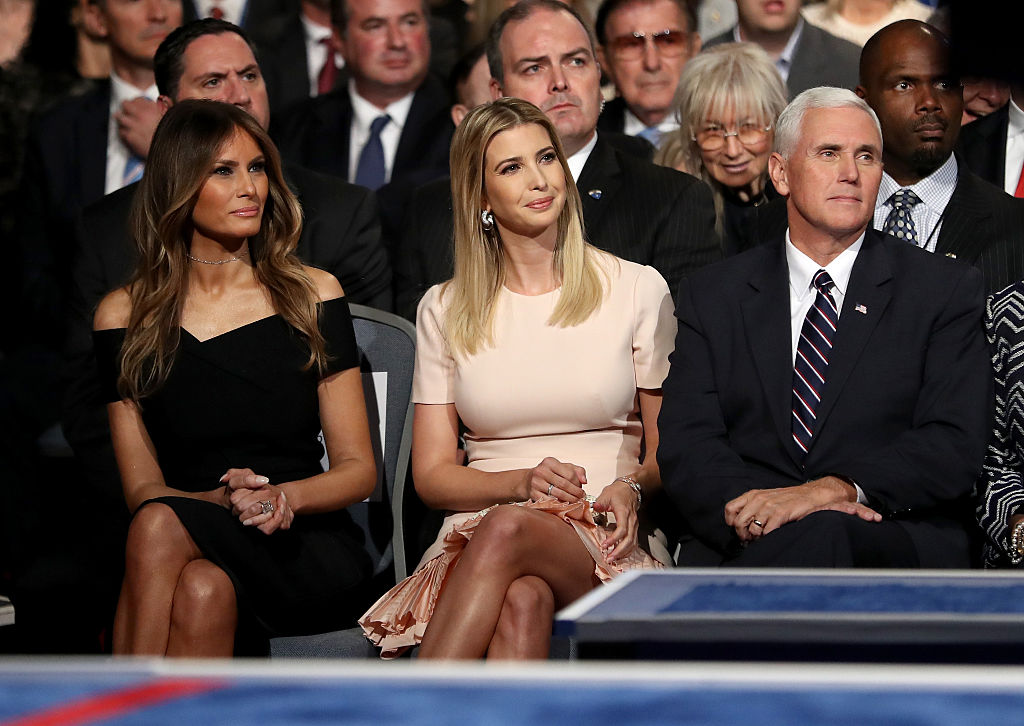 Donald Trump's wife, Melania Trump, daughter, Ivanka Trump