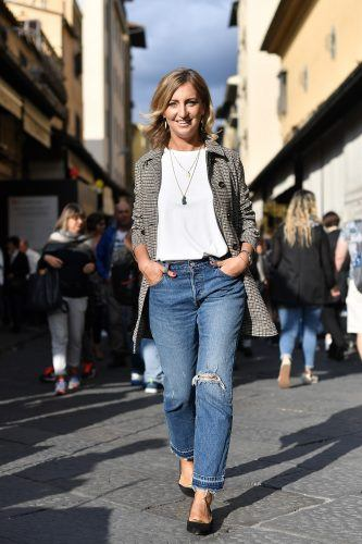Elena Braghieri is seen wearing Peuterey jacket