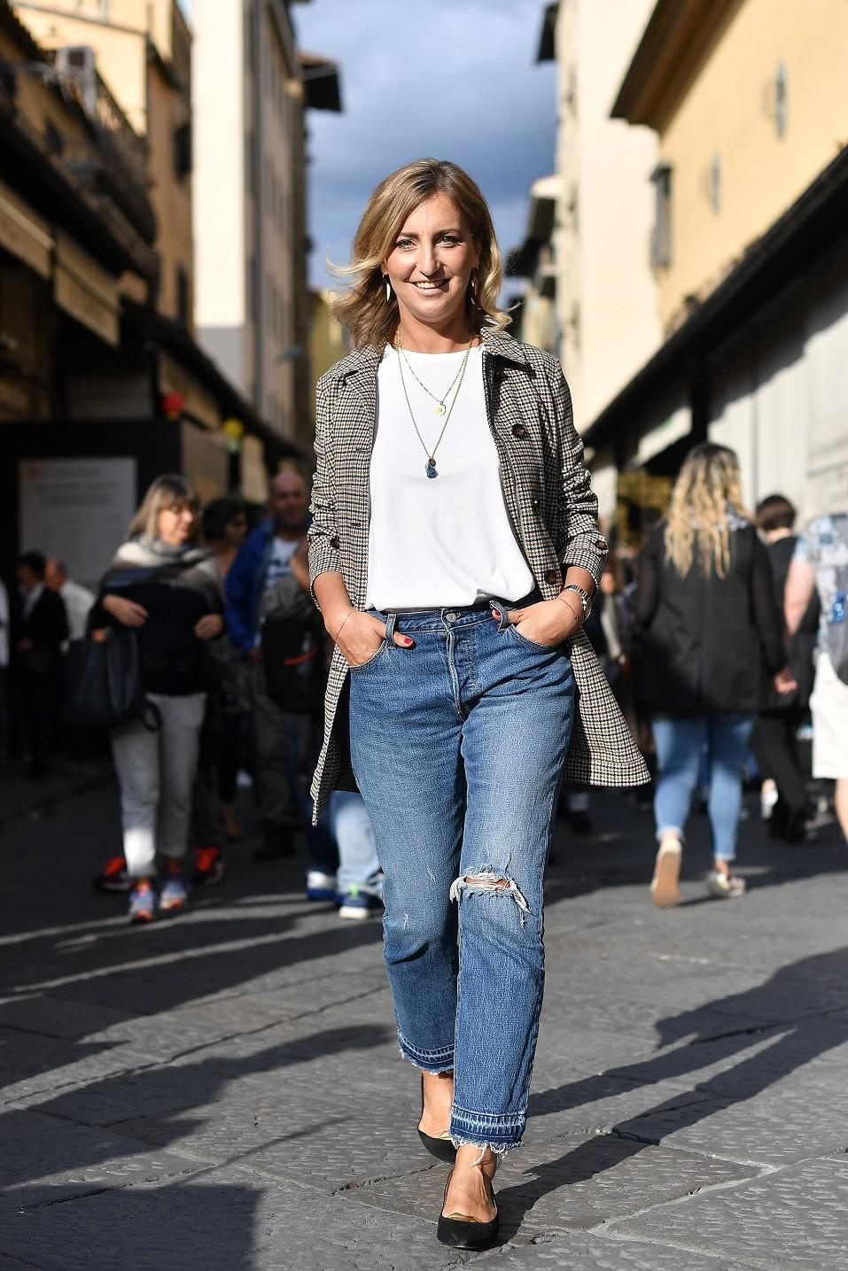 Elena Braghieri is seen wearing Peuterey jacket