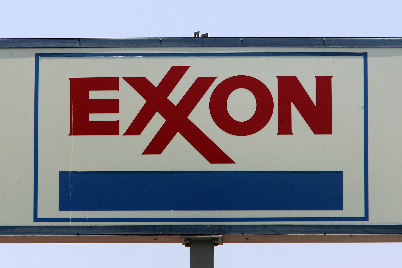 An Exxon sign at a California gas station
