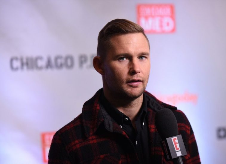 Actor Brian Geraghty is interviewed as he attends a press junket for NBC's 'Chicago Fire
