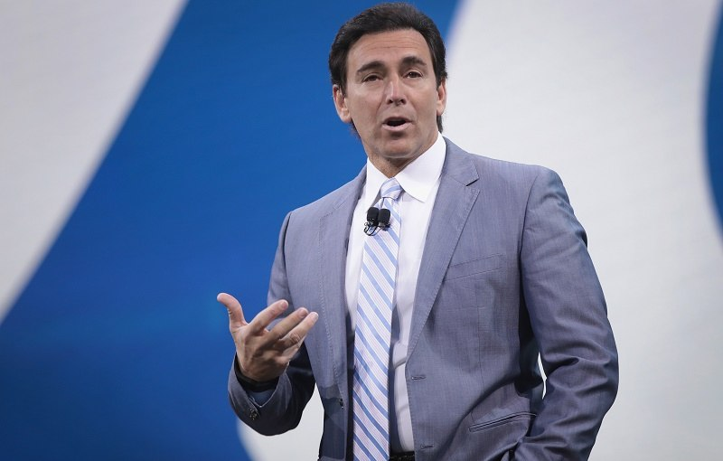 Mark Fields, President and CEO of Ford, speaks at the North American International Auto Show on January 9, 2017 in Detroit, Michigan