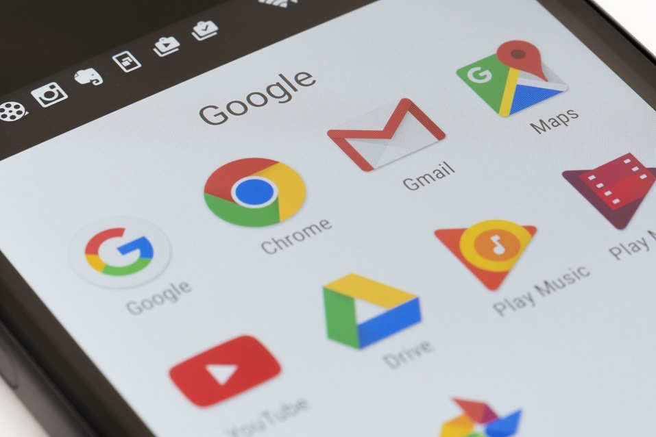 Google apps on an Android smartphone