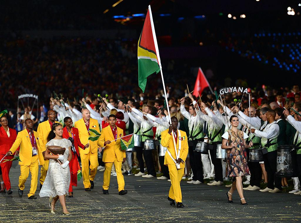 Winston George of the Guyana Olympic athletics team