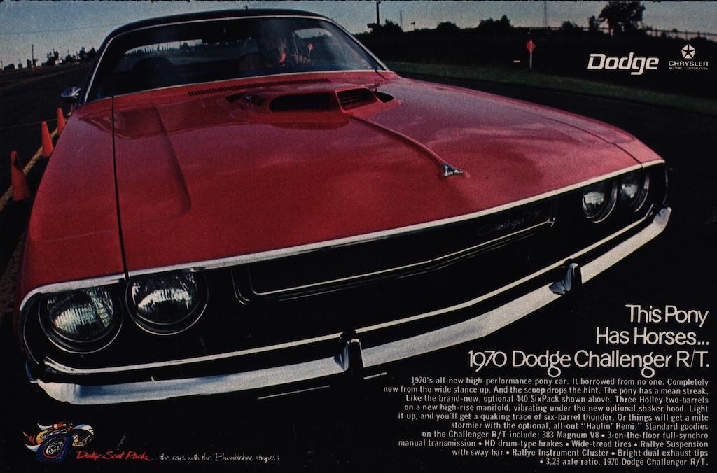 1970 Dodge Challenger R/T advertisement