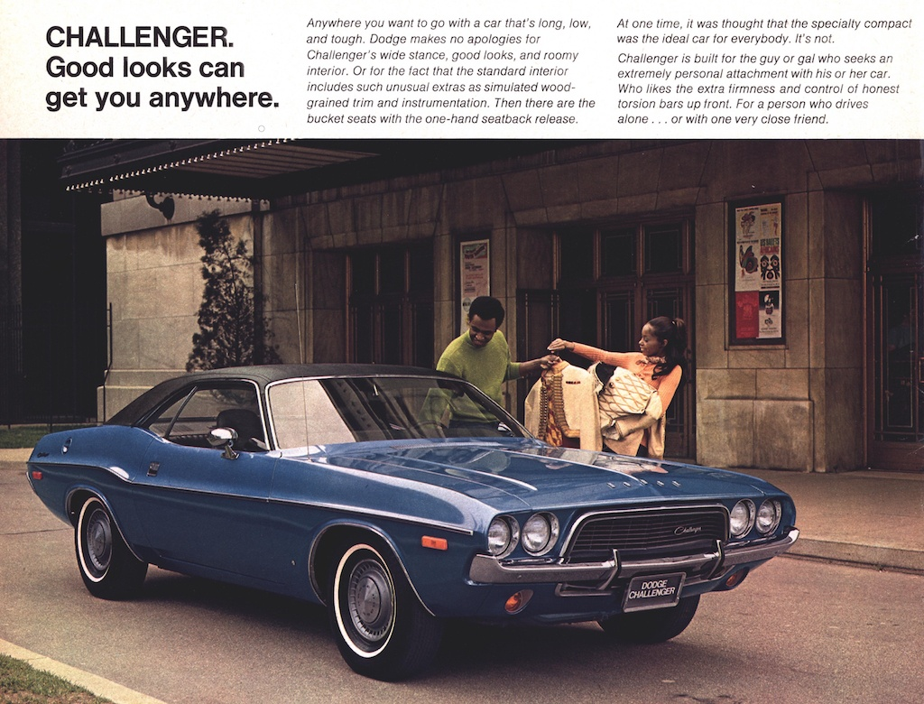1972 Dodge Challenger advertisement