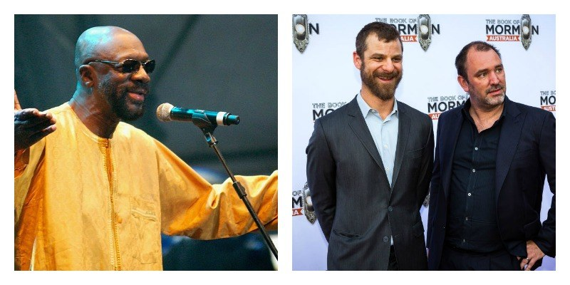 Isaac Hayes, Matt Stone, and Trey Parker