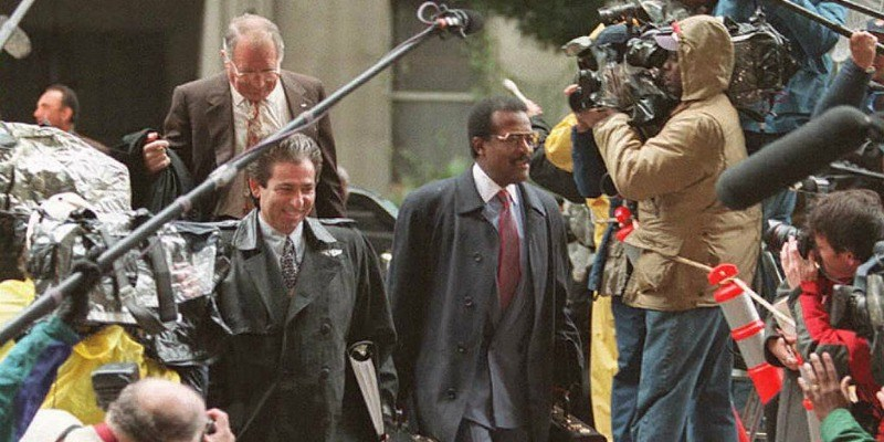 Johnnie Cochran and Robert Kardashian