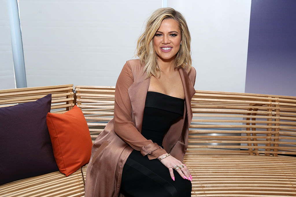 Khloe Kardashian attends an Allergan KYBELLA event