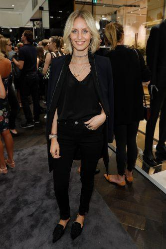 Lisa Hahnbueck attends KARL LAGERFELD at the Vogue Fashion's Night Out
