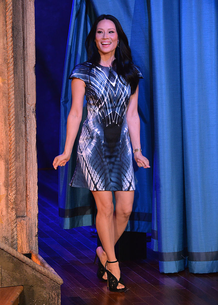 Lucy Liu visits Late Night With Jimmy Fallon at Rockefeller Center