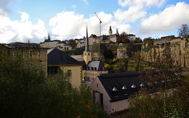 A view of Luxembourg City
