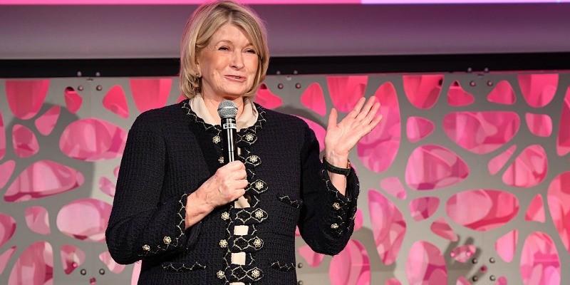 Martha Stewart speaking in front of a crowd.