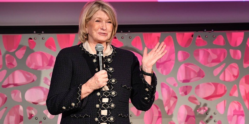 Martha Stewart speaking in front of a crowd.
