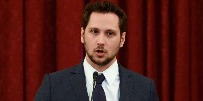 Matt McGorry speaks during #JusticReformNow Capitol Hill Advocacy Day
