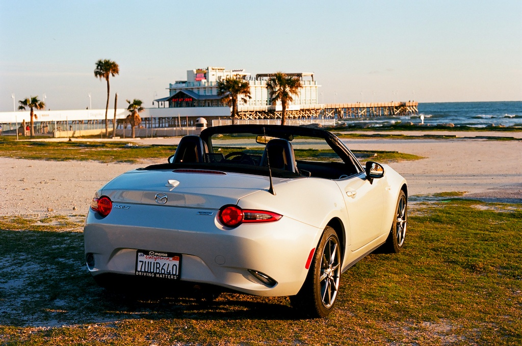 2017 Mazda Miata GT parked at the beach
