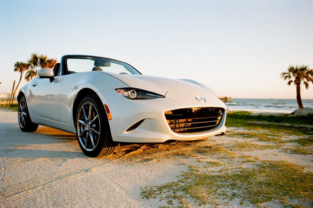 2017 Mazda Miata GT at the beach