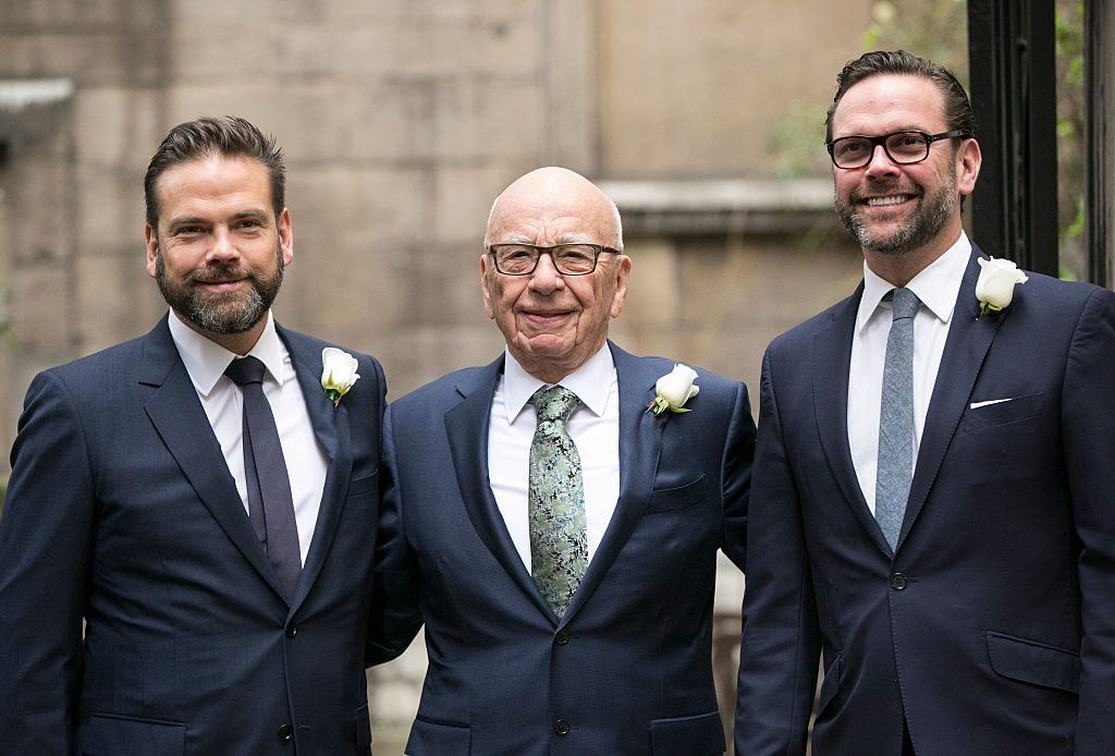 Rupert Murdoch with his sons