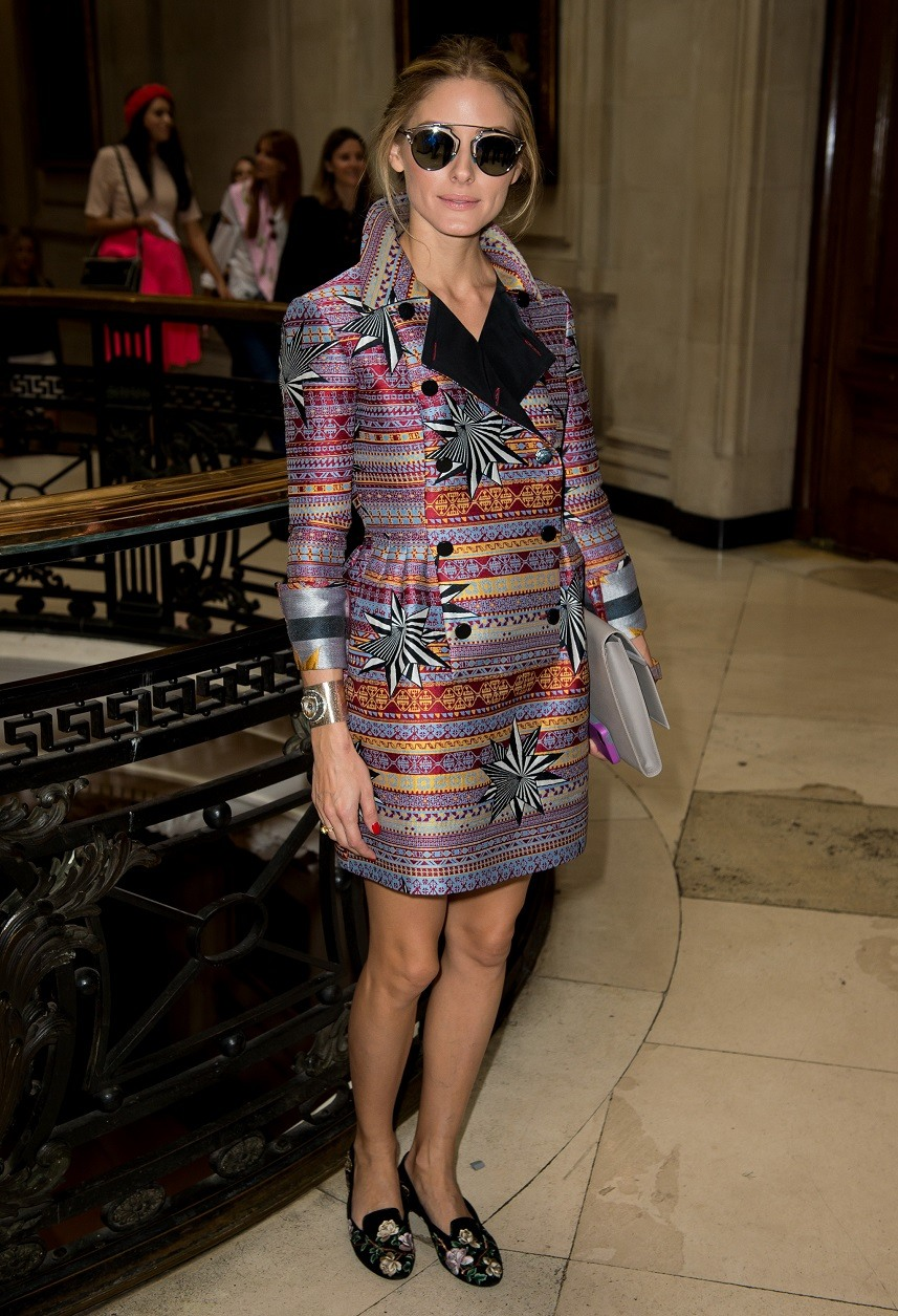 Olivia Palermo attends the Matthew Williamson show