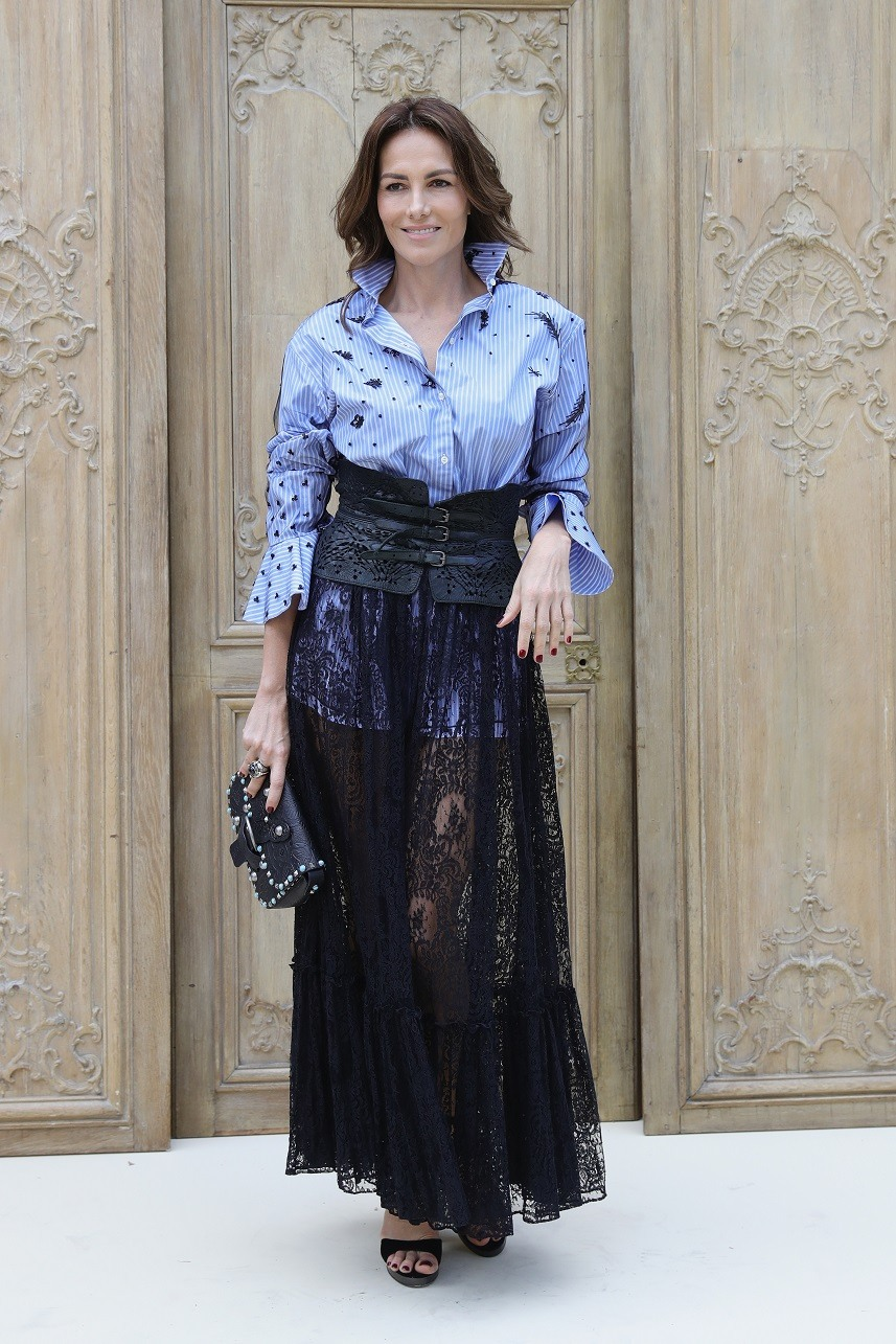 Adriana Abascal attends the Valentino show as part of the Paris Fashion Week