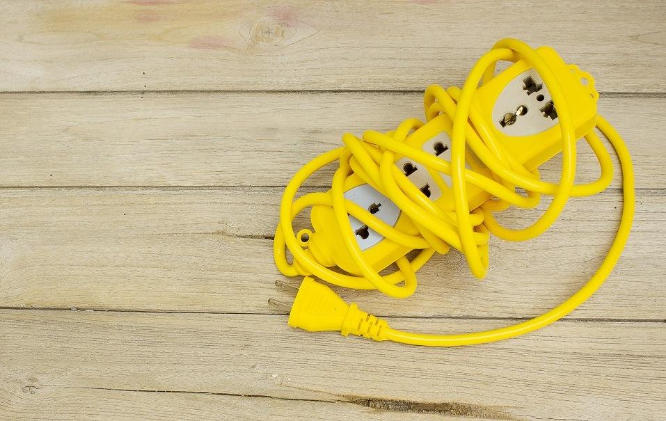 Plugs on wood