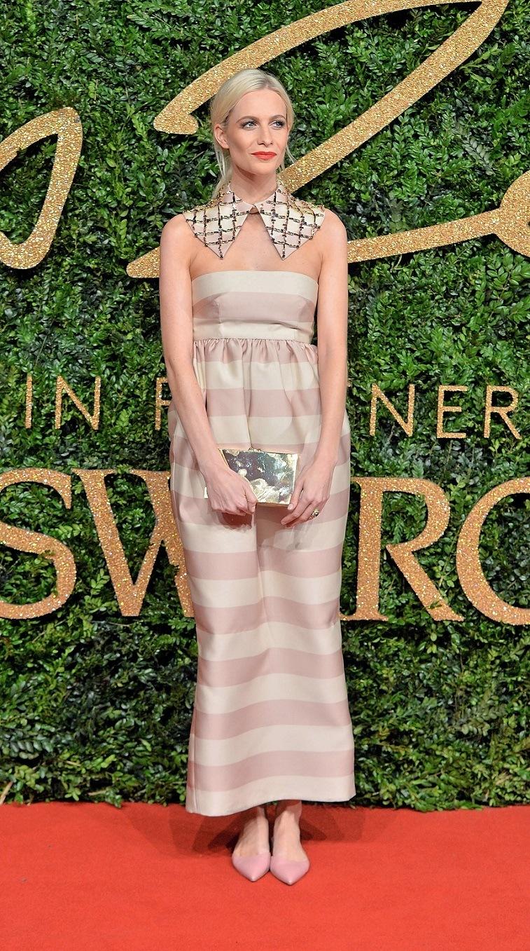 Poppy Delevingne attends the British Fashion Awards