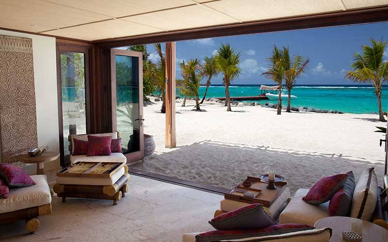 Richard Branson's private Caribbean retreat
