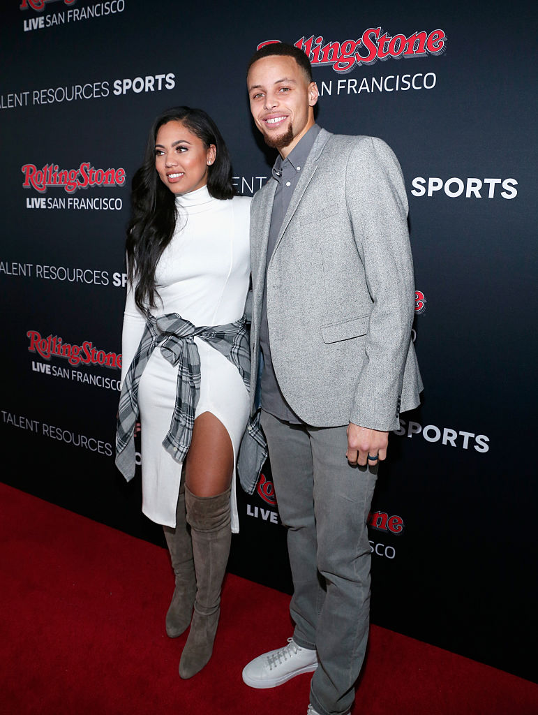 Ayesha Curry (L) and NBA player Stephen Curry attend Rolling Stone Live SF