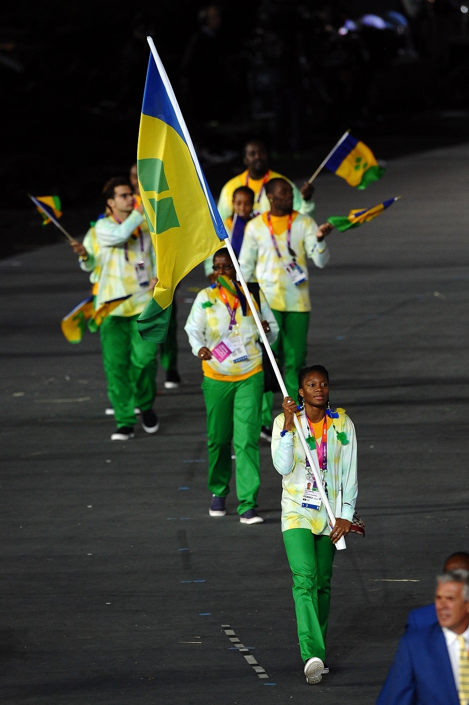 Kineke Alexander of the Saint Vincent and the Grenadines Olympic athletics team