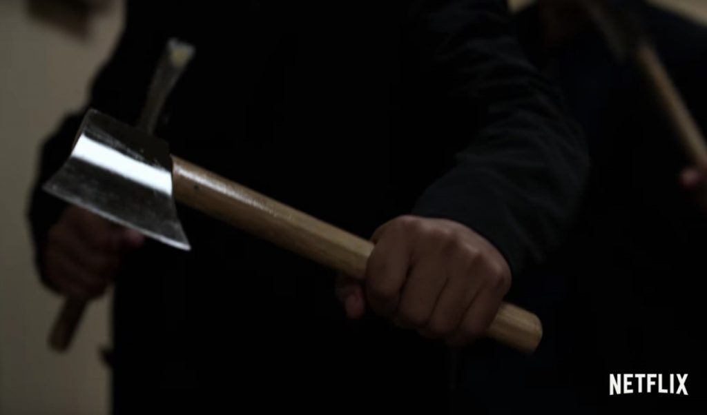 Zhou Cheng and his twin axes - Iron Fist