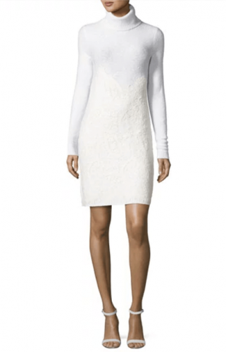 Michael Kors Needle-Punched Lace Sweater Dress