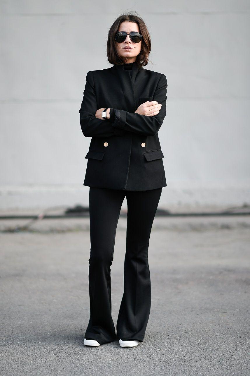 Sila Gueven is wearing a Zara jacket Joie Turtleneck and vans sneakers