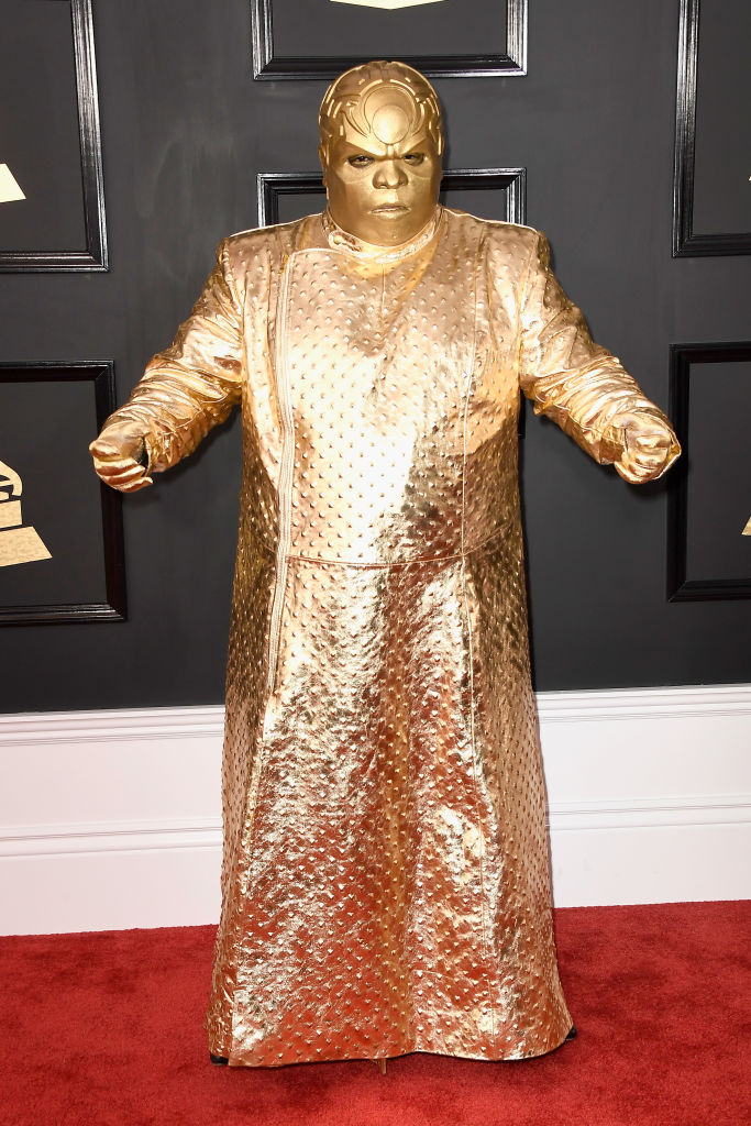 Singer Gnarly Davidson (aka CeeLo Green) attends The 59th GRAMMY Awards
