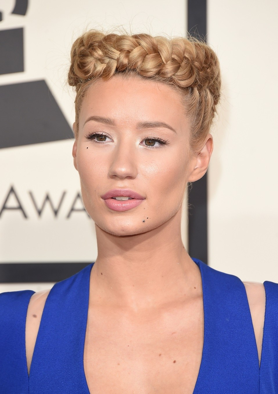 Singer Iggy Azalea attends The 57th Annual GRAMMY Awards at the STAPLES Center
