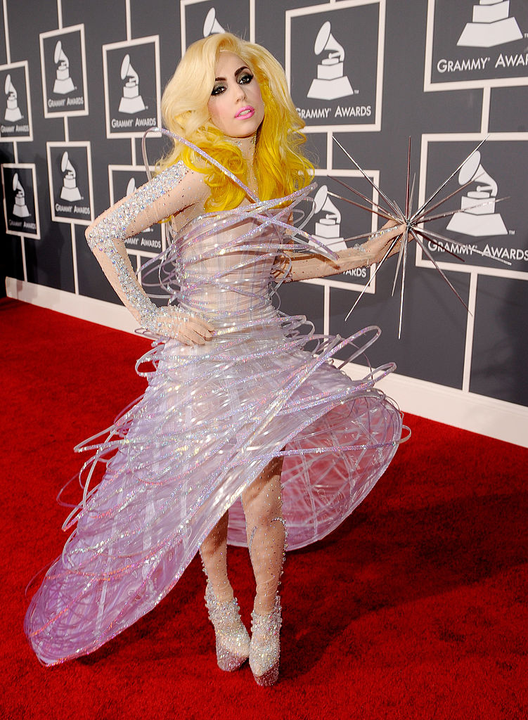 Singer Lady Gaga arrives at the 52nd Annual GRAMMY Awards