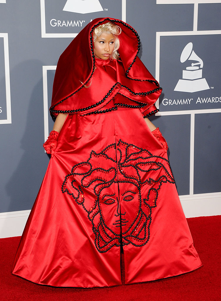 Singer Nicki Minaj arrives at the 54th Annual GRAMMY Awards