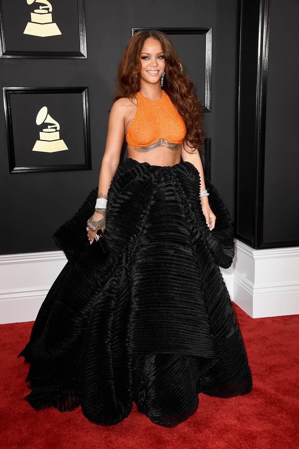 Singer Rihanna attends The 59th GRAMMY Awards
