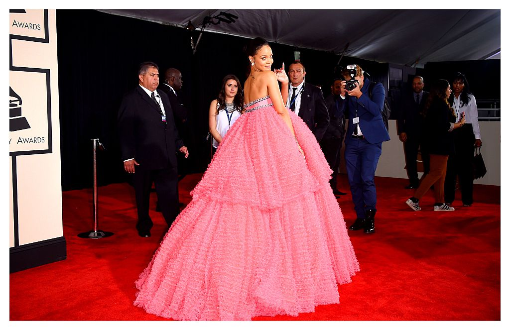Singer Rihanna attends The 57th Annual GRAMMY Awards