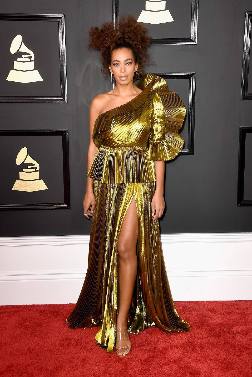 Singer Solange Knowles attends The 59th GRAMMY Awards