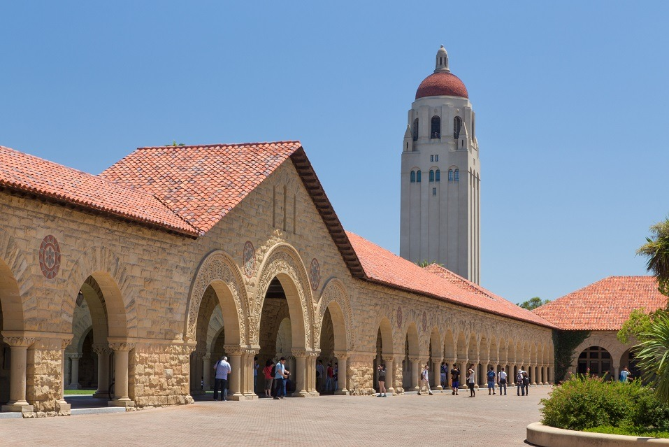 Stanford University features original sandstone walls