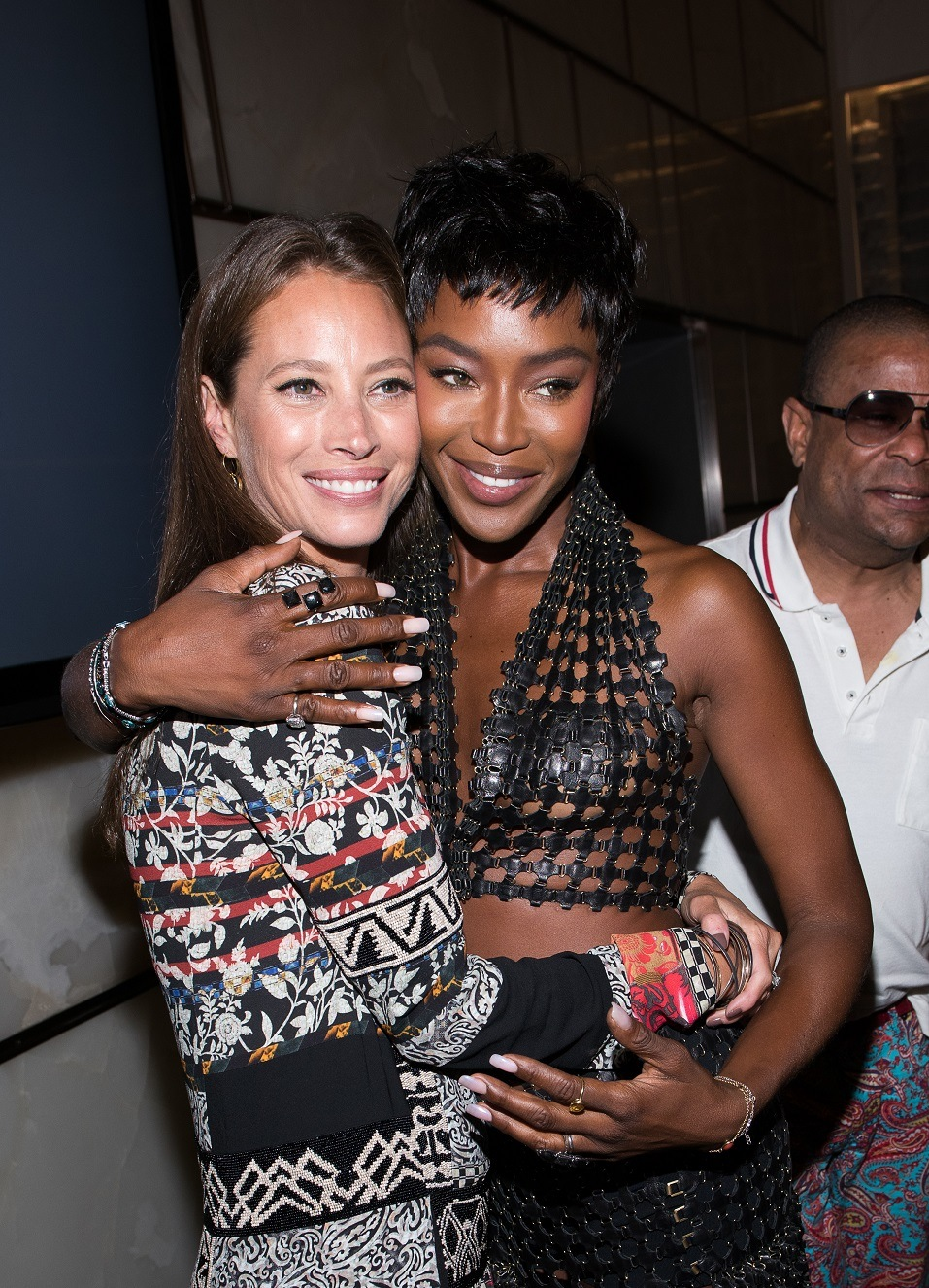 Christy Turlington Burns and Naomi Campbell attends The Daily Front Row