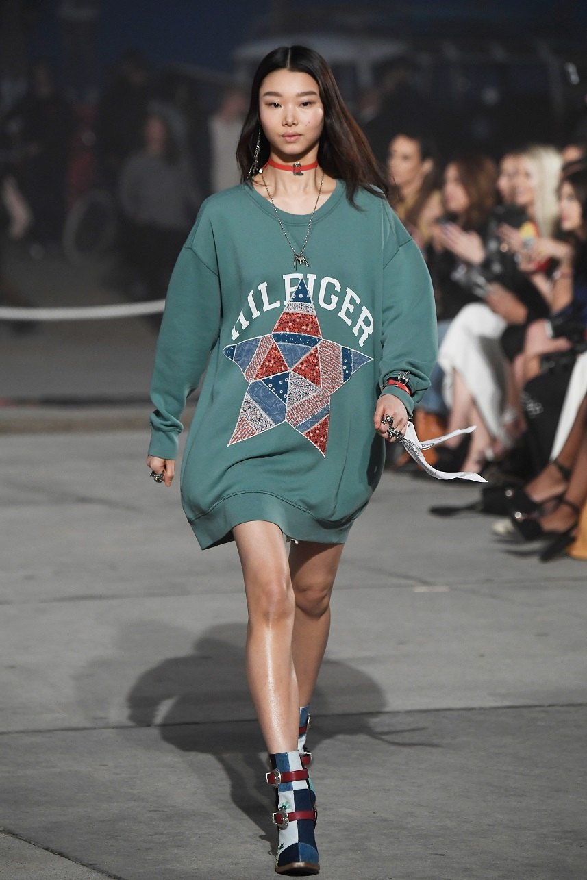 A model walks the runway at the TommyLand Tommy Hilfiger Spring 2017 Fashion Show