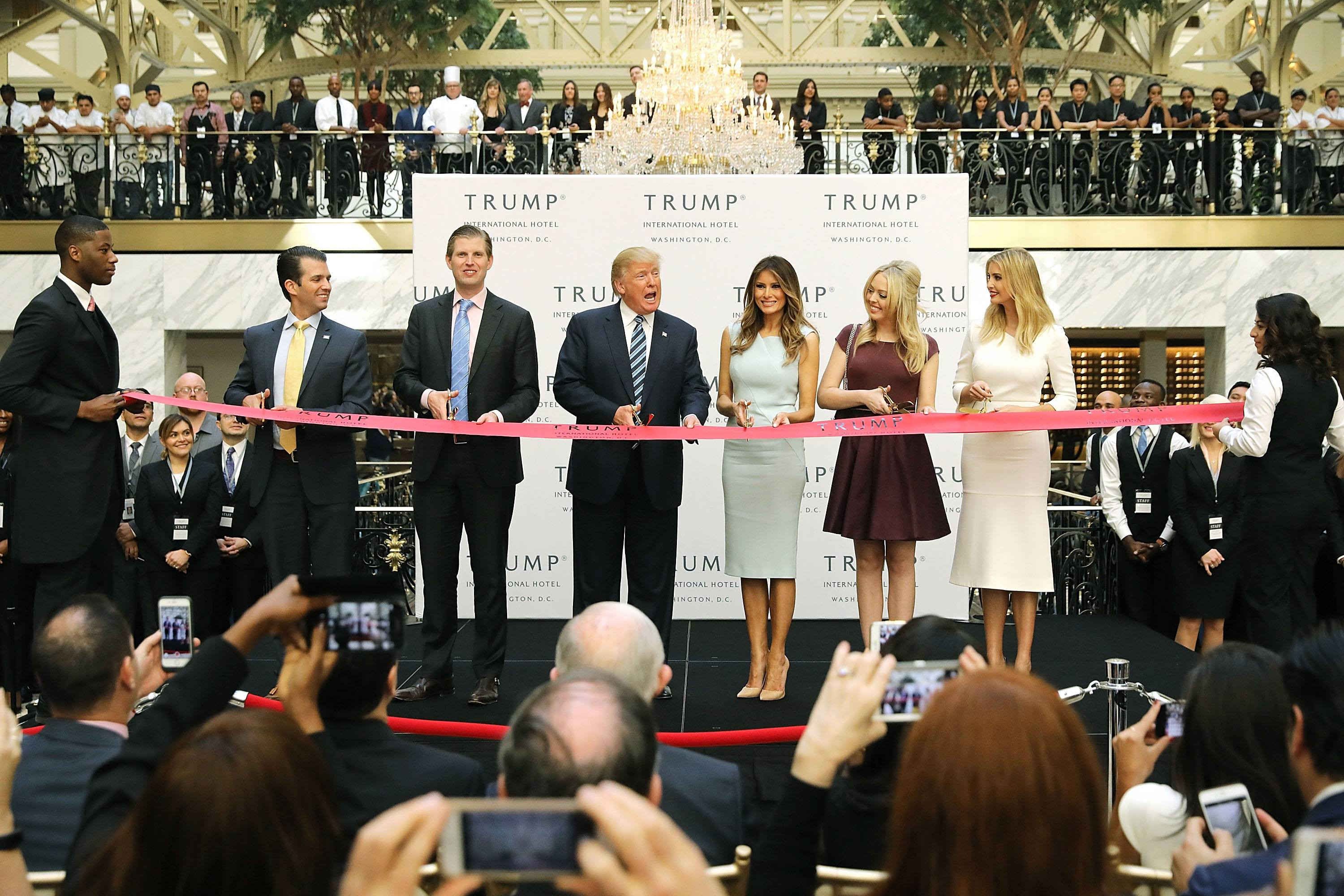 The Trumps open their new D.C. hotel.