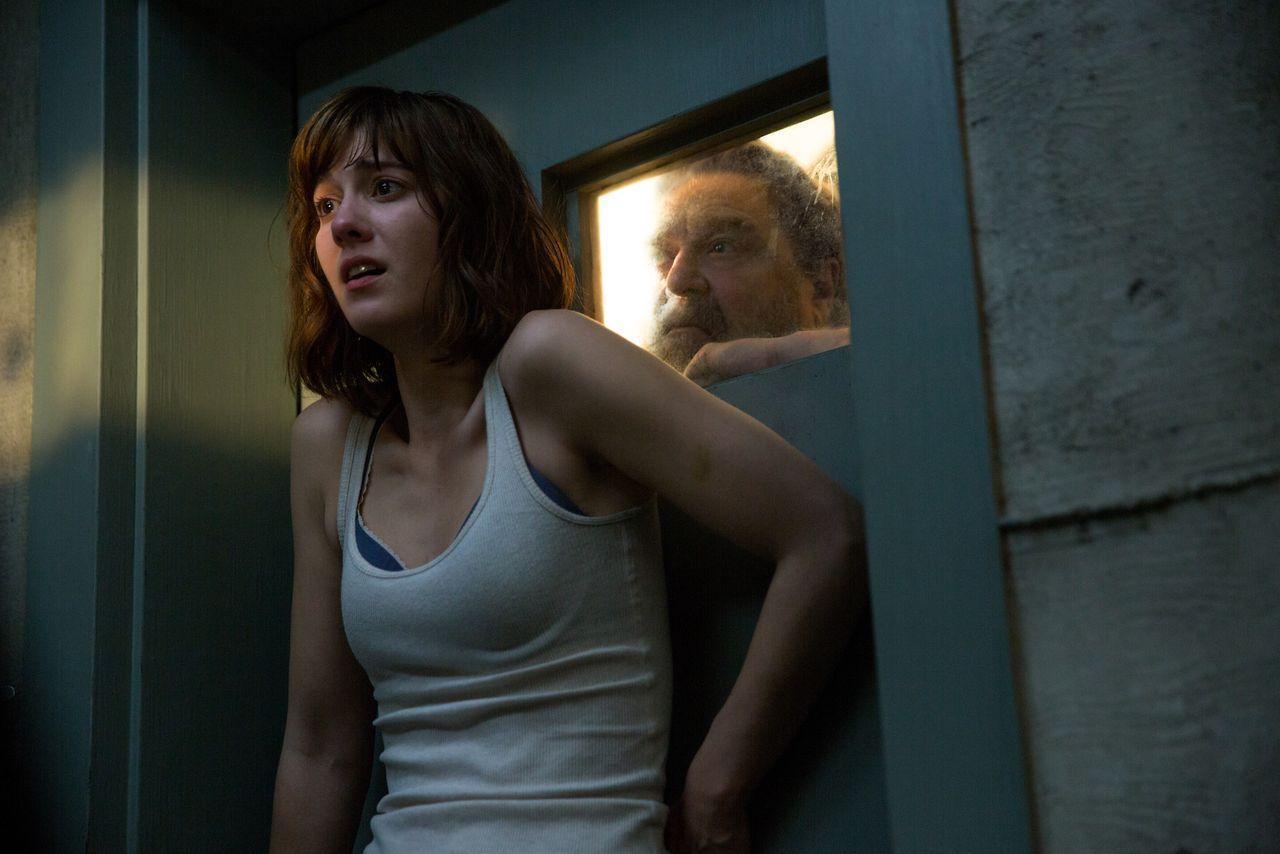 John Goodman terrorizes a woman in a scene from 10 Cloverfield Lane