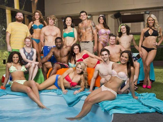 The Cast of CBS's 'Big Brother' poses for a photo in their swimsuits