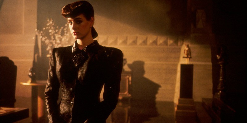 Sean Young is in a suit in Blade Runner.