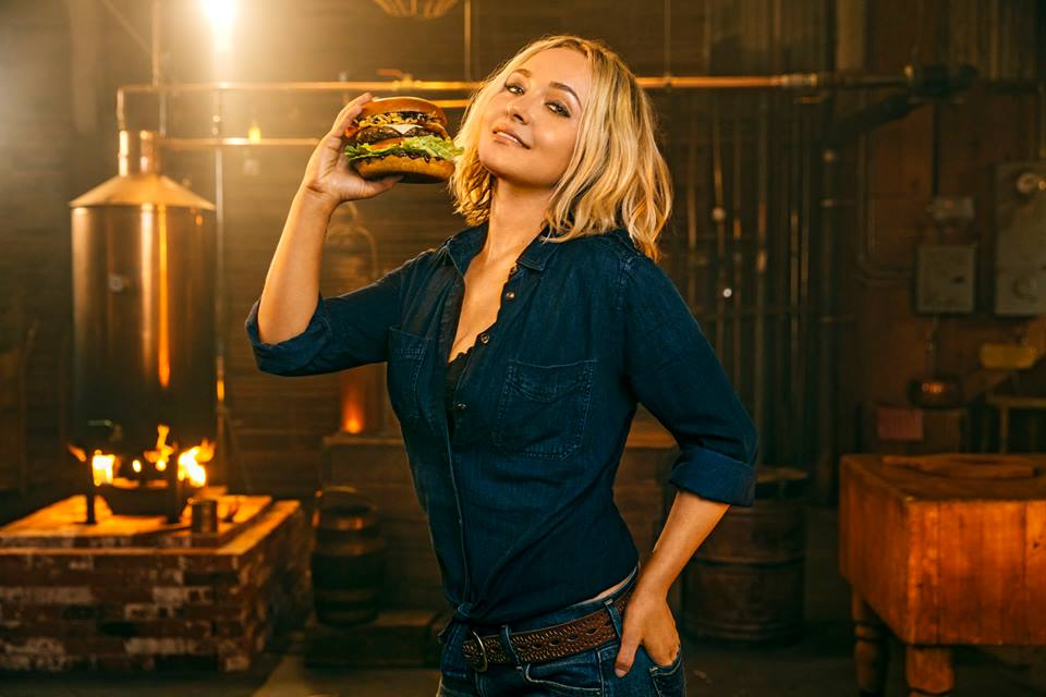 Hayden Panettiere in an ad for Carl's Jr.
